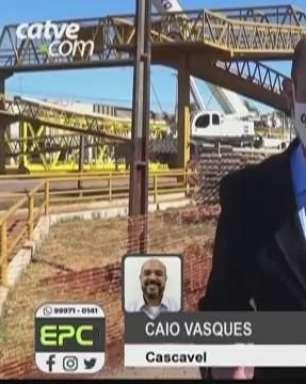 Nova passarela garante trânsito de pedestres no Trevo Cataratas