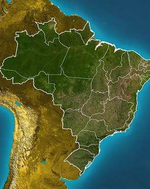 Previsão Brasil - Frente fria alcança o Sudeste e provoca tempestades.