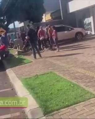 Discussão no Centro de Medianeira termina com empresário morto e suspeito preso
