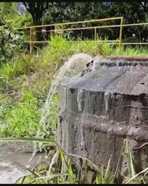 Esgoto vaza e atinge rio na região do Neva em Cascavel