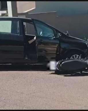Motociclista de 34 anos fica ferido em acidente de trânsito em Toledo