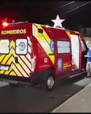 Mãe e filha ficam feridas ao bater carro em supermercado em Cascavel