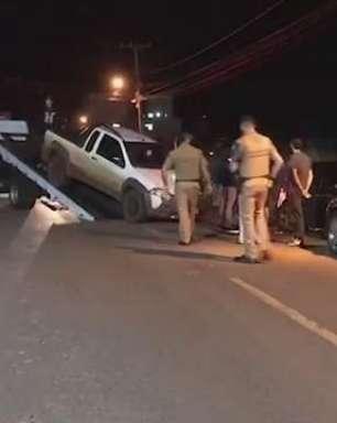 Motorista embriagado é detido ao bater em carros estacionados no Santo Inácio