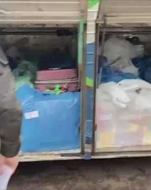 Três ônibus são apreendidos com mercadorias contrabandeadas