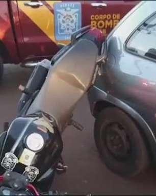 Adolescente de 17 anos sofre traumatismo craniano em acidente de trânsito em Cascavel