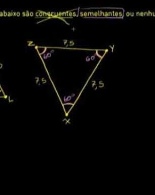 Triângulos congruentes e semelhantes
