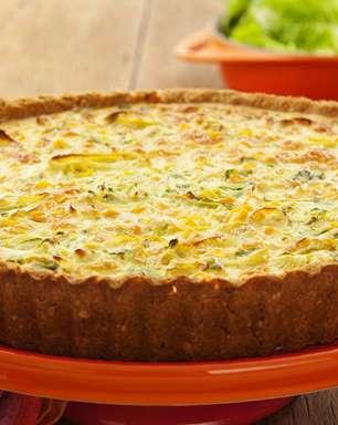 Quiche leve de cream craker e legumes