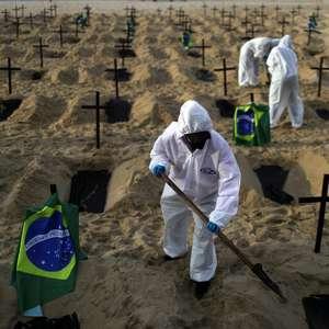 Com mais 571 mortes em 24h, Brasil ultrapassa 155 mil óbitos