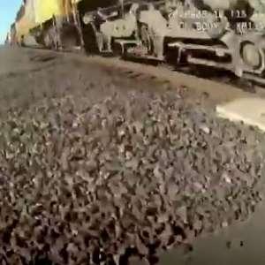 Policial salva cadeirante de ser atropelado por trem nos EUA