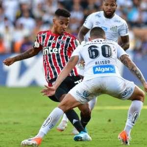 Em clássico bem jogado, Santos e São Paulo empatam na Vila
