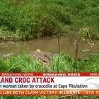 Una mujer desaparece, arrastrada por un cocodrilo en ...