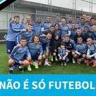 Família que sofreu agressão acompanha treino do Grêmio