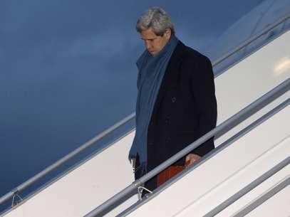 """O secretário americano de Estado, John Kerry, vai a Genebra com o objetivo de reduzir as divergências e promover um acordo"""" Foto: Reuters"""