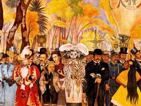 Contempla un mural de diego rivera en la alameda central for Un mural de diego rivera