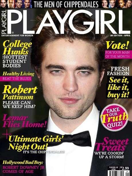 Playgirl publica de fotos de Robert Pattinson desnudo y el vampiro de Crepúsculo aparece en tapa vestido de smoking