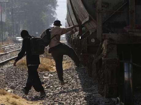 Migrantes en su paso por México.