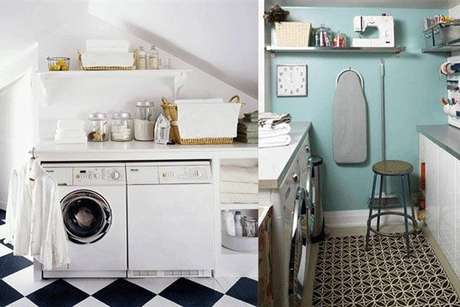 Un cuarto de lavado con estilo for Lavaderos modernos para ropa