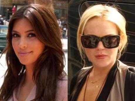 Kim Kardashian and Lindsay Lohan