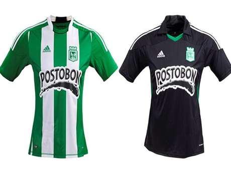 Camiseta local y visitante de Atlético Nacional para este 2012.