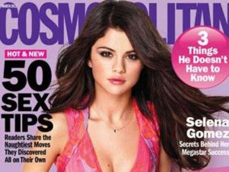 Selena Gomez picture for Pantene inside Cosmopolitan