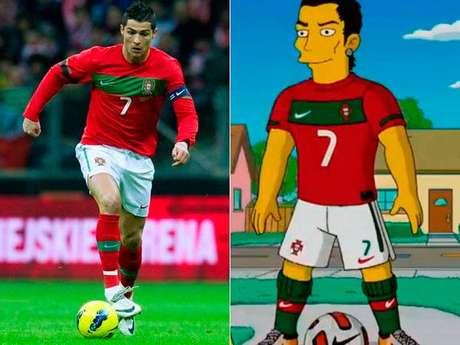 Como olvidar al jugador más caro de toda la historia del fútbol, Cristiano Ronaldo, que hizo una pequeña aparición en The Simpsons, cuando tocó el timbre de la casa, Homero abrió y Ronaldo le pasó la bola entre las piernas.