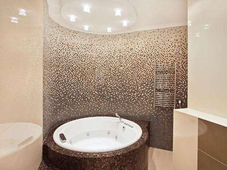 Tendencia mosaicos hechos de peque os azulejos para el ba o - Mosaicos para banos ...
