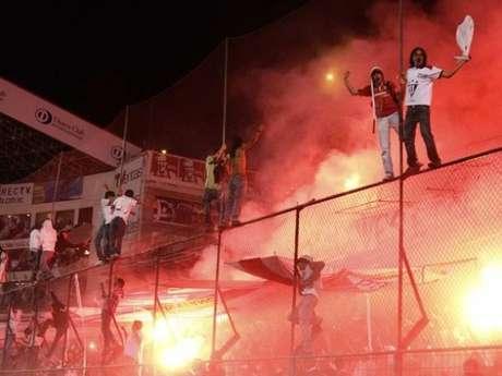 La hinchada de Liga de Quito.