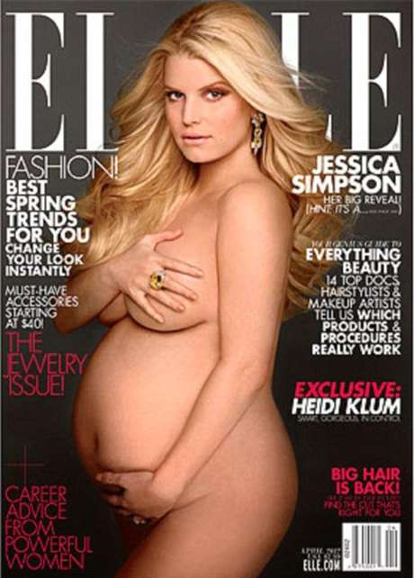 It's a girl!. Jessica Simpson posa desnuda y confirma que espera una nena.