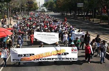 Se prevé que unos 100 mil maestros, 40 mil de la Ciudad, participen en la manifestación.