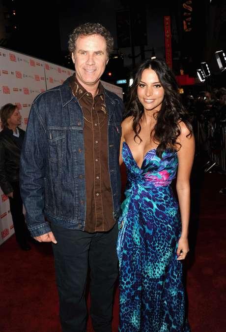 Will Ferrell junto a Génesis Rodriguez en la premiere de 'Casa de mi padre' en Hollywood.