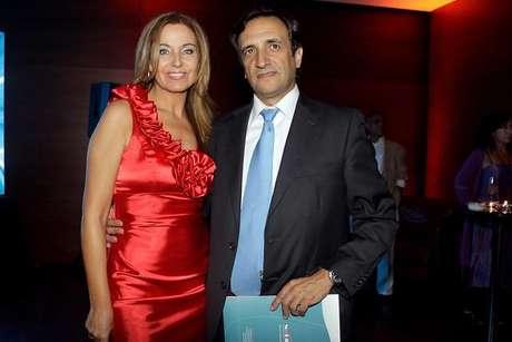Viviana junto a su nueva pareja, Javier Gómez Templado.