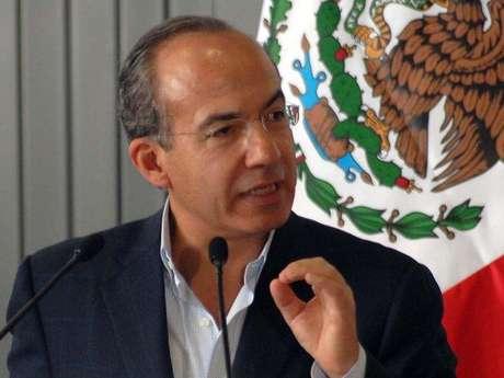 El presidente Felipe Calderón