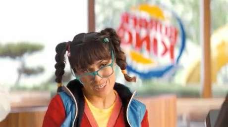Salma Hayek en el comercial de Burger King.