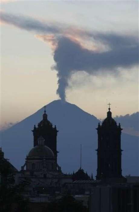 Fumarola en el Popocatépetl, hace dos días