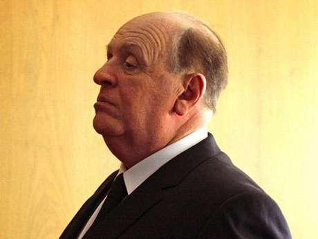 Primer vistazo a Anthony Hopkins como Alfred Hitchcock.