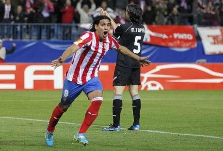 Falcao es la gran figura del Atlético de Madrid