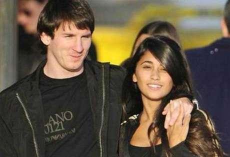 Lionel Messi y su novia Antonella Roccuzzo.