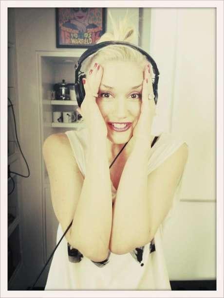 Gwen Stefani de No Doubt grabando su nueva placa