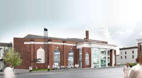 Una imagen creada por computadora proporcionada por OMA muestra el proyecto de un centro de performances de larga duración de 15 millones de dólares de la artista Marina Abramovic.