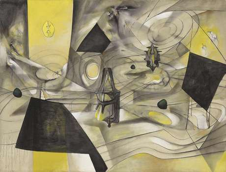 """""""La révolte des contraires"""" del chileno Matta, en una imagen sin fecha difundida por Christie's. La obra encabeza la venta de arte latinoamericano de la rematadora en Nueva York, el martes 22 de mayo del 2012."""