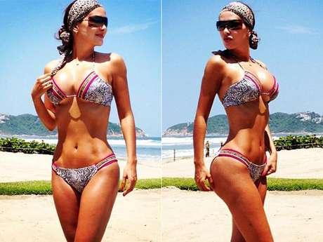 Como no admirar a Ninel Conde si ella constantamente se encarga de dar colirio para los ojos, subiendo la temperatura en las redes sociales al compartir, en su cuenta en Twitter, fotos picantes luciendo un pequeño bikini.
