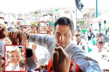 Pablo Zárate (recuadro) colaboró en un mitin de Enrique Peña Nieto en Guanajuato el pasado 15 de abril.