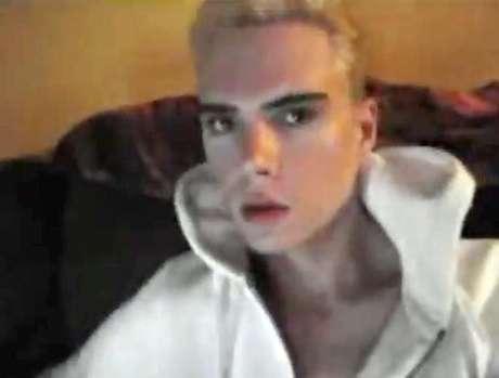 Luka Magnotta en una captura de uno de sus videos de YouTube.