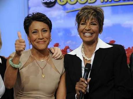 Robin Roberts and Sally Ann Roberts.