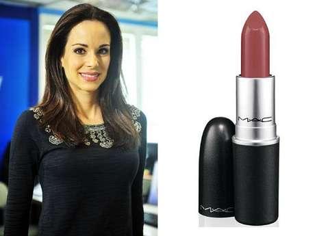 O batom vinho da Ana Furtado, apresentadora do Vídeo Show, faz sucesso. O batom é da marca M.A.C, cor Twig. Preço: R$ 79. Informações: 0800-8921695