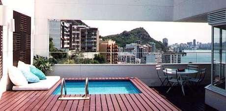 Instalar piscinas em coberturas demanda estudos estruturais for Coberturas para piscinas