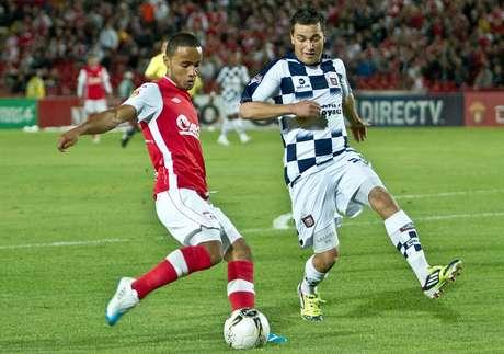 Óscar Rodas, fue uno de los hombres destacados en el triunfo de Santa Fe 1-0 sobre Chicó.