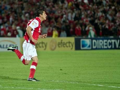 Diego Aroldo Cabrera, marcó el gol con el que Independiente Santa Fe le ganó 1-0 a Boyacá Chicó.