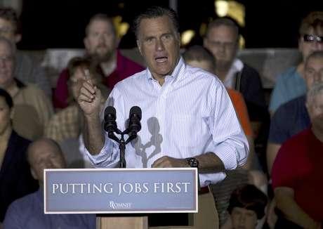 El candidato presidencial republicano Mitt Romney en un mitin en Weatherly Casting Company, en Weatherly, Pensilvania, el 16 de junio del 2012.