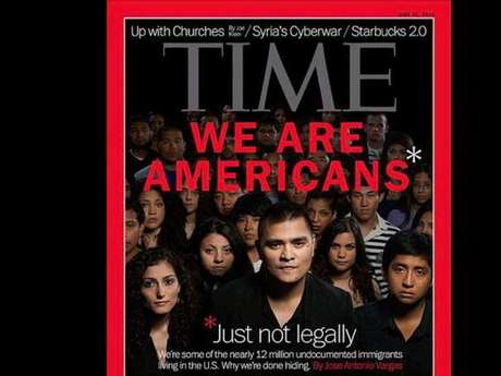 La portada de la revista Time, que pone de manifesto la problemática de los inmigrantes en Estados Unidos sin documentos.
